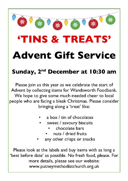 Tins and treats poster