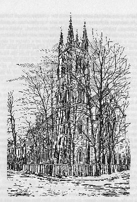 Drawing of the church from 1882