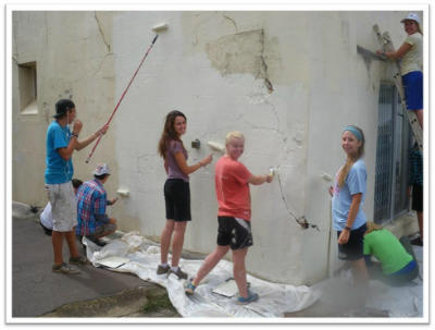 A Team painting at Project Gateway