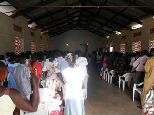 Kyevunze church inside before face-lift