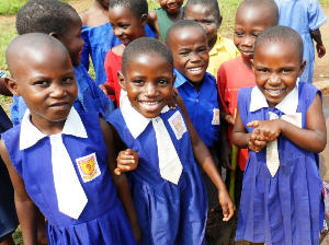 School Luweero smiling pupils