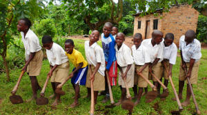School Luweero pupils on farm