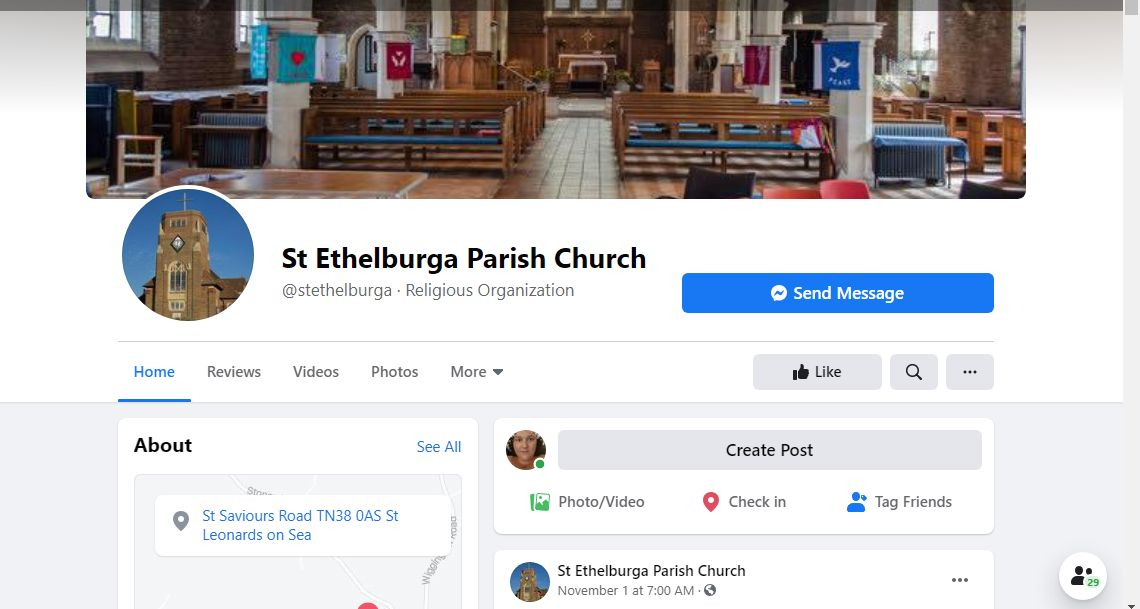 St Ethelburgas FB Page