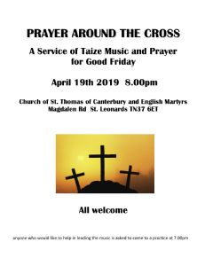 prayer round the cross