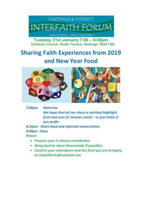 Interfaith forum Jan 20