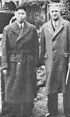 Watchman Nee standing next to Theodore Austin-Sparks