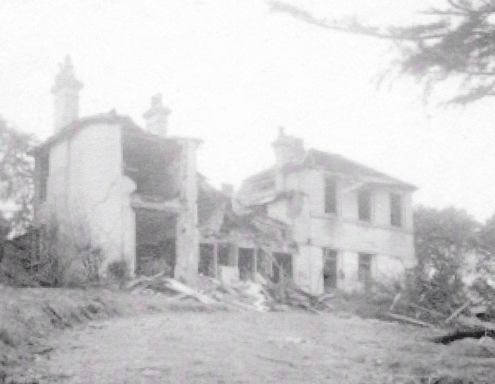 Fairlawn House damaged by a bomb in 1944