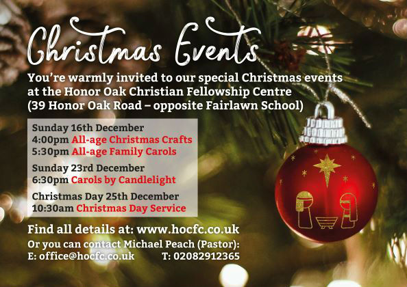 You are warmly invited to our special Christmas events - see the activities page.