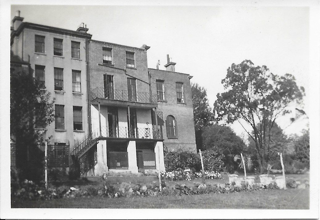 Close-up of back of Forest Hill House School in 1927