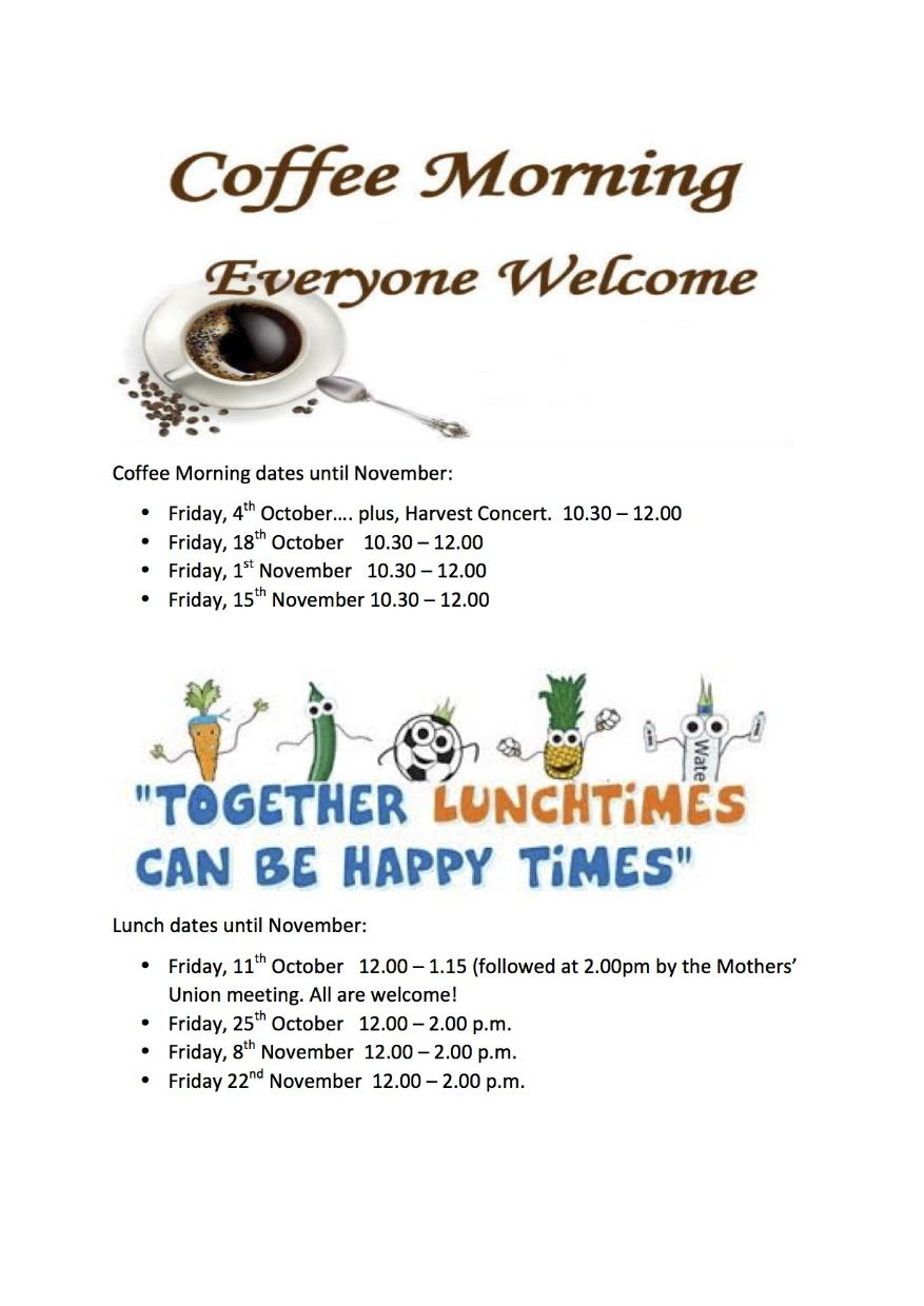 Coffee Morning and Lunches