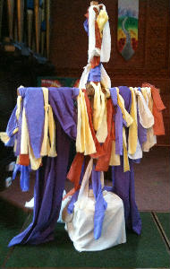 Good Friday decorated Cross