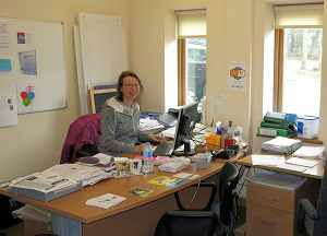 Chrissy in the Office