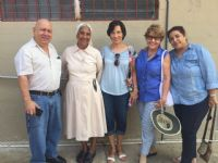Visit to a senior home in Colon