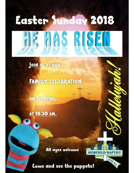 Easter Day service poster