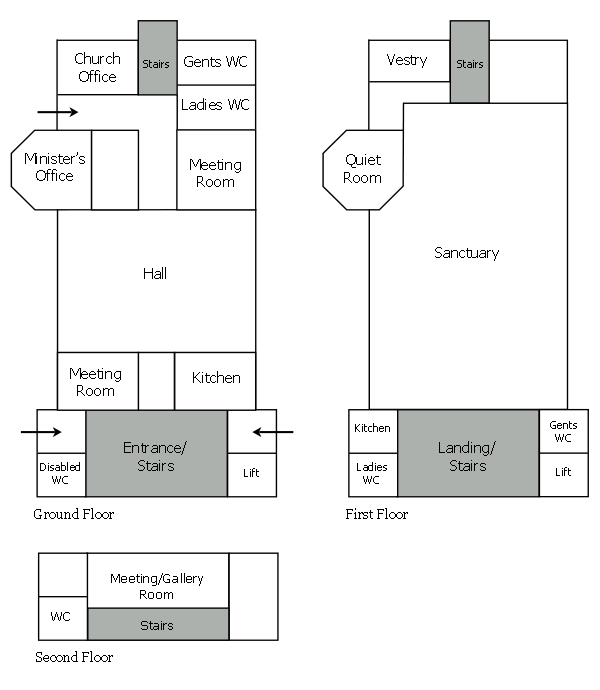Trinity Church floorplans