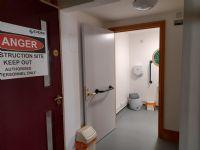 new toilet location