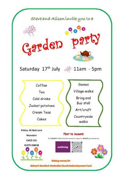 Manuden garden party