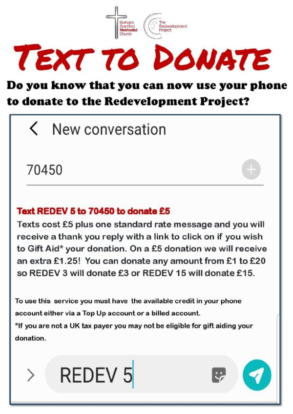 How to text donate