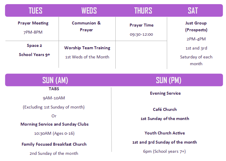 QRBC Schedule