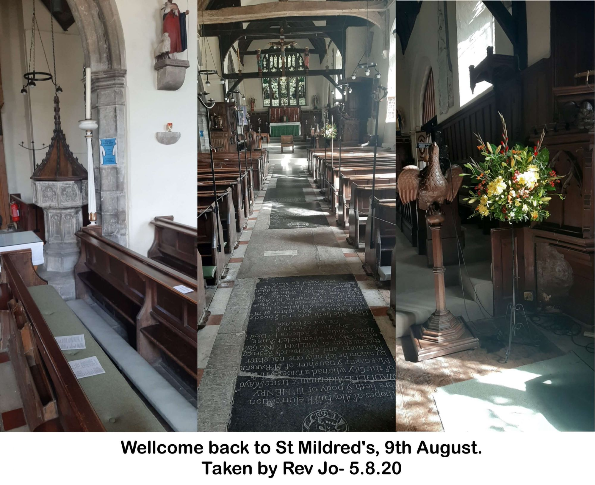 Wellcome back to St Mildred's, 9th August.