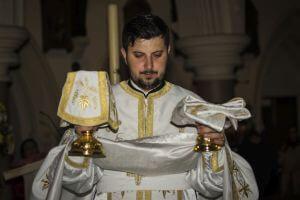 Fr Grigore Pașcu - Romanian Orthodox Church service, Canterbury, Kent UK
