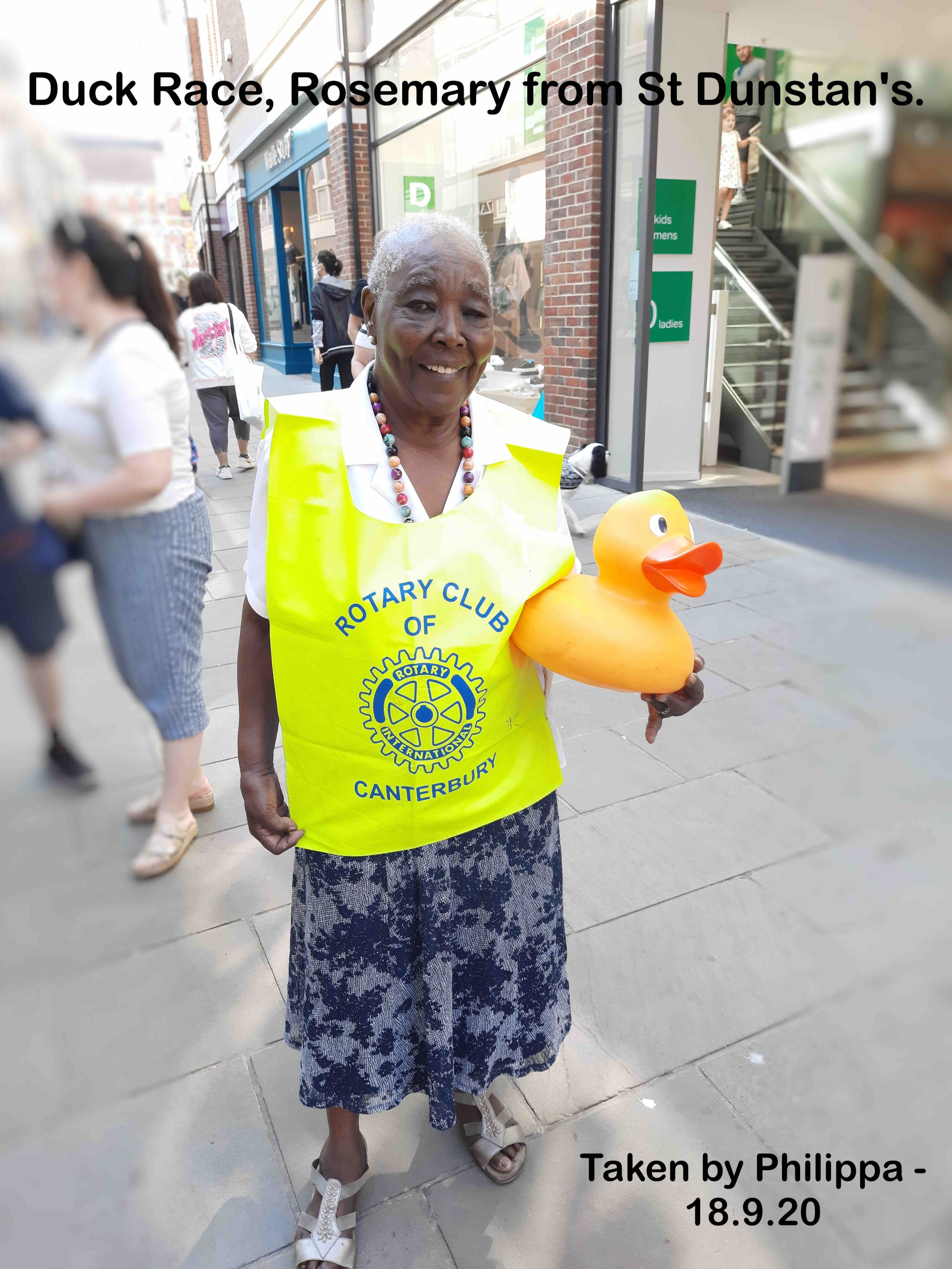 Duck Race, Rosemary from St Dunstan's.