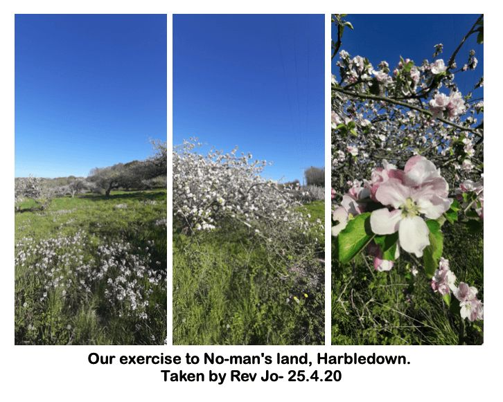 Our exercise to No-man's land, Harbledown.
