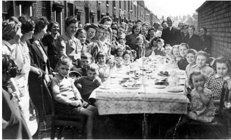 Google street party image from VE Day