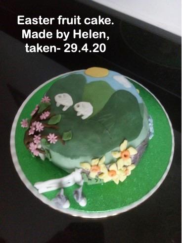 Easter fruit cake.
