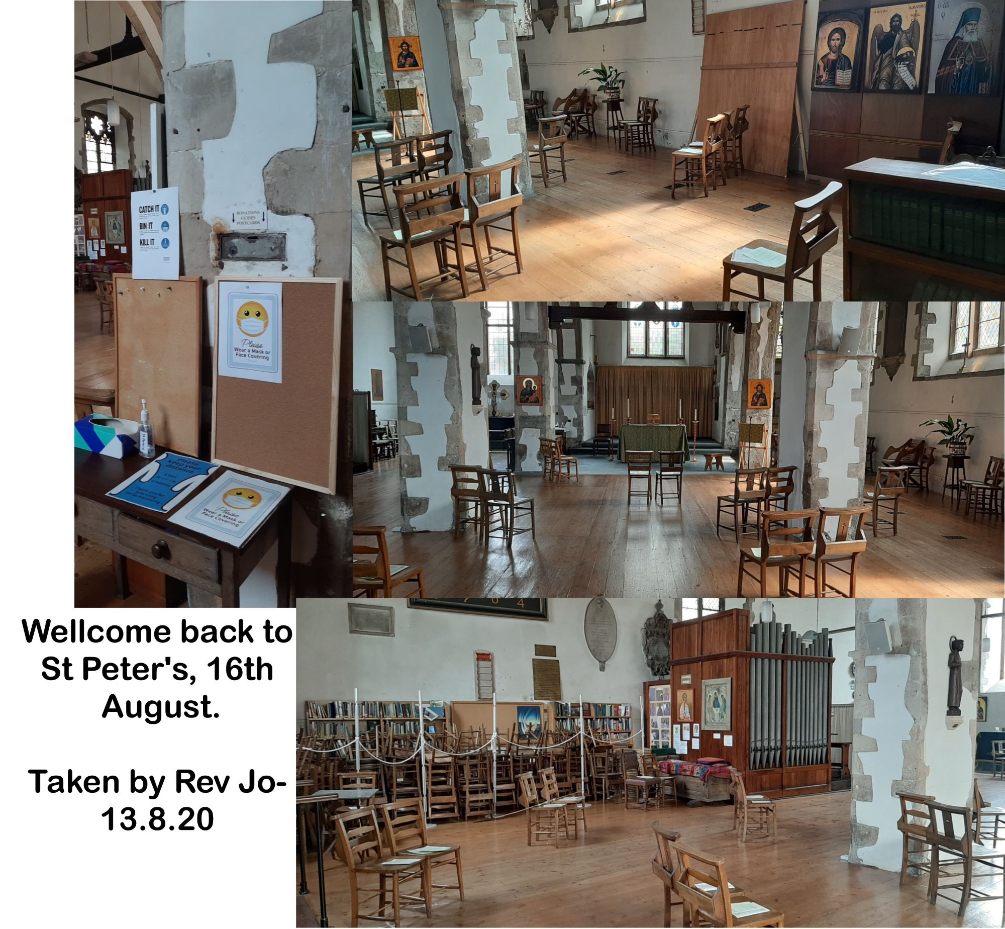 Wellcome back to St Peter's, 16th August.