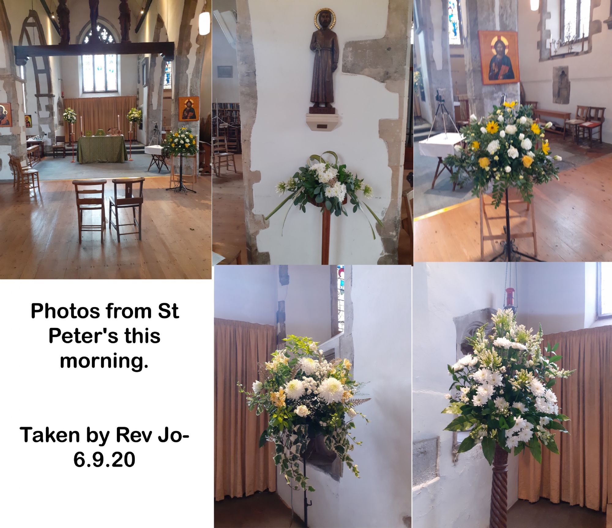 Photos from St Peter's this morning.
