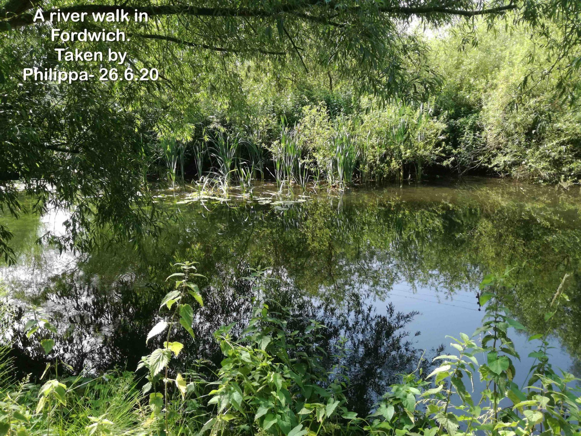 A river walk in Fordwich.