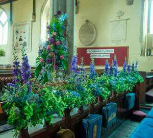 Flowers in St Dunstans Church