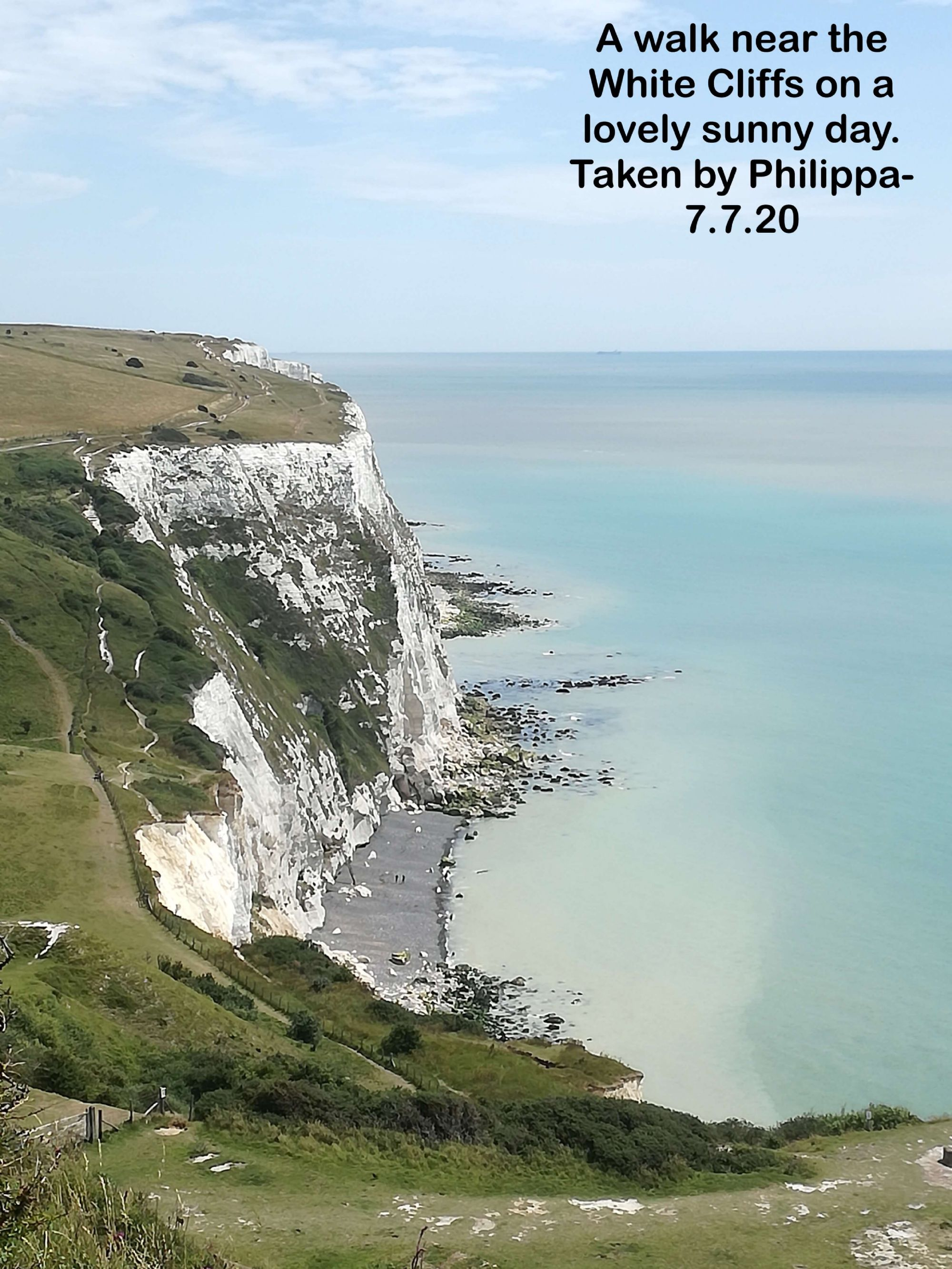 A walk near the White Cliffs on a lovely sunny day.