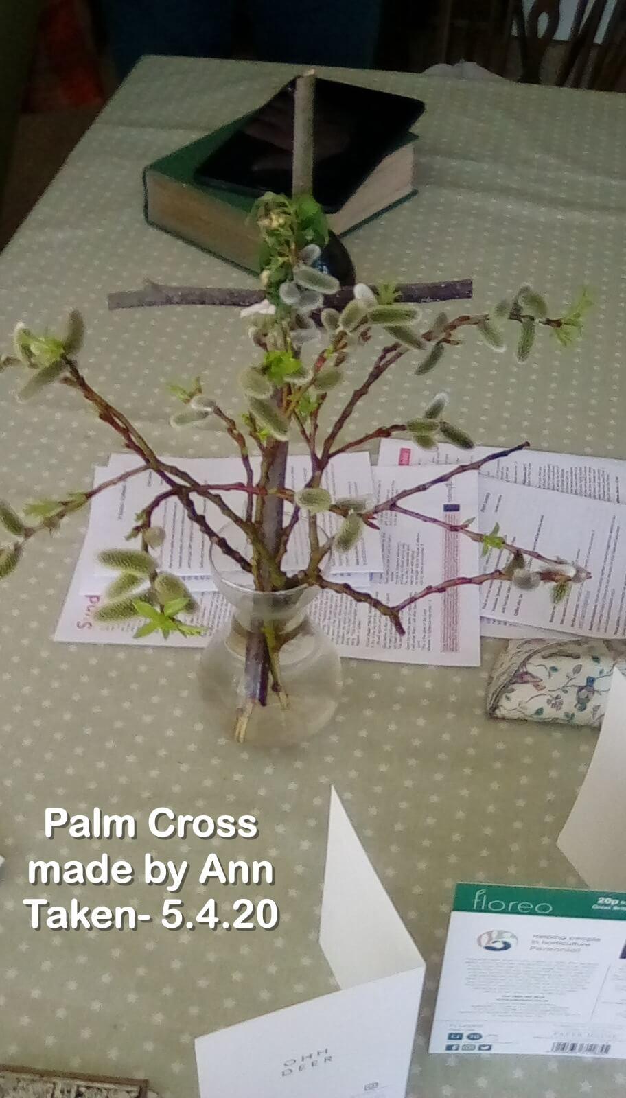 Palm Cross made by Ann
