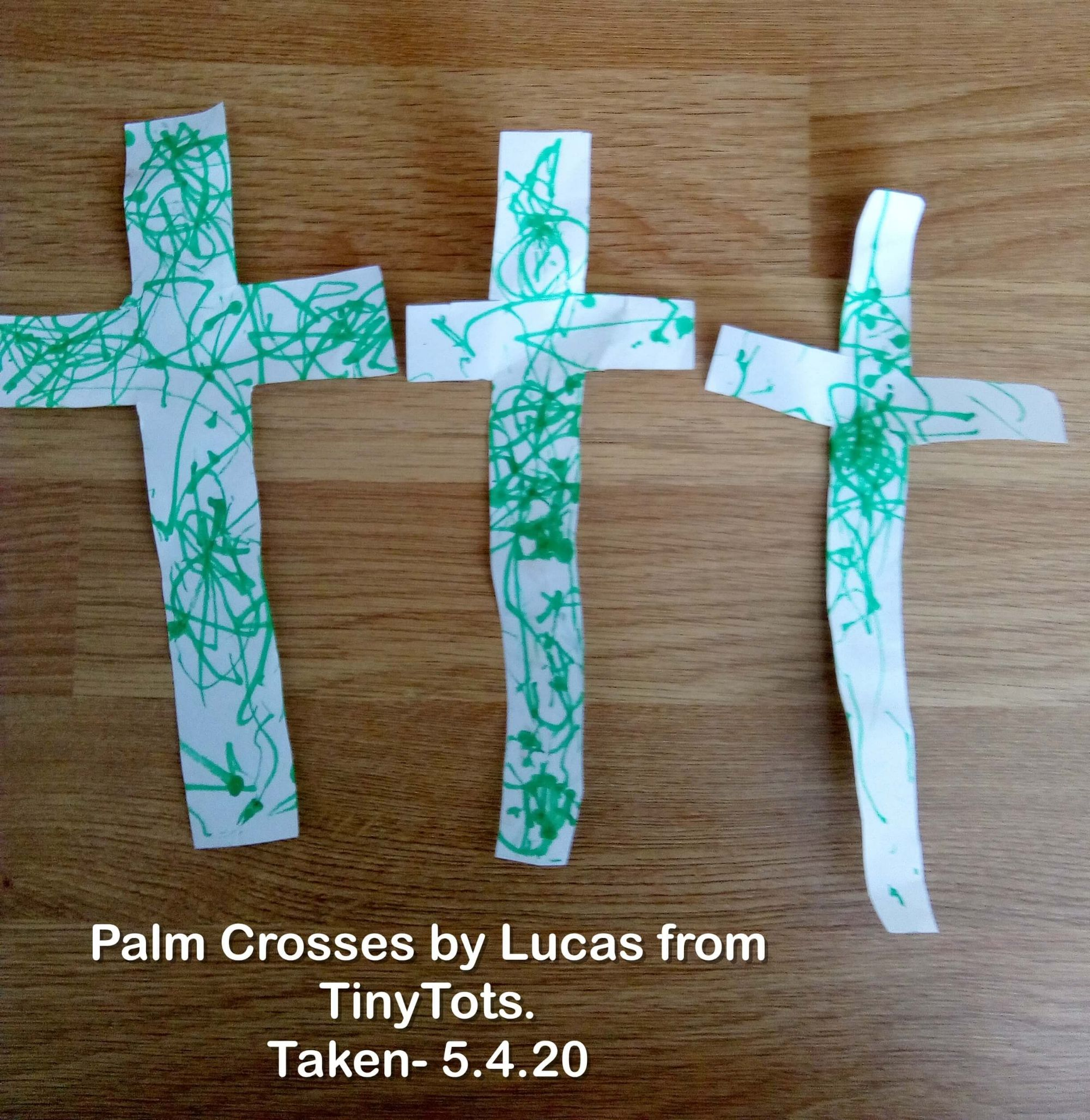 Palm Cross made by Lucas