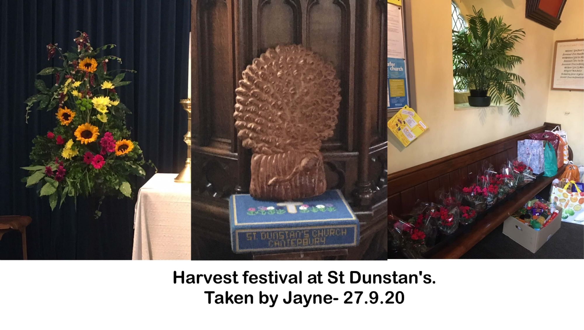 Harvest festival at St Dunstan's