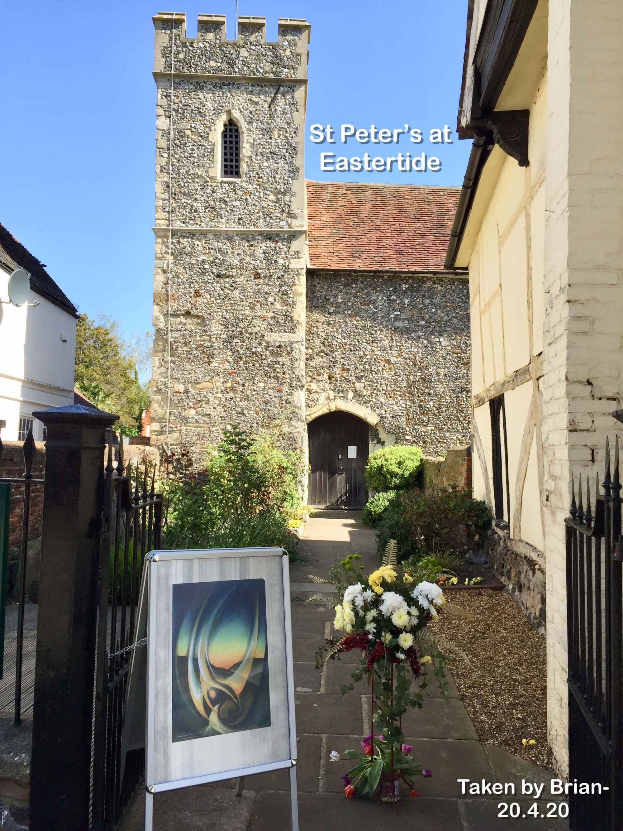 St Peter's at Eastertide.