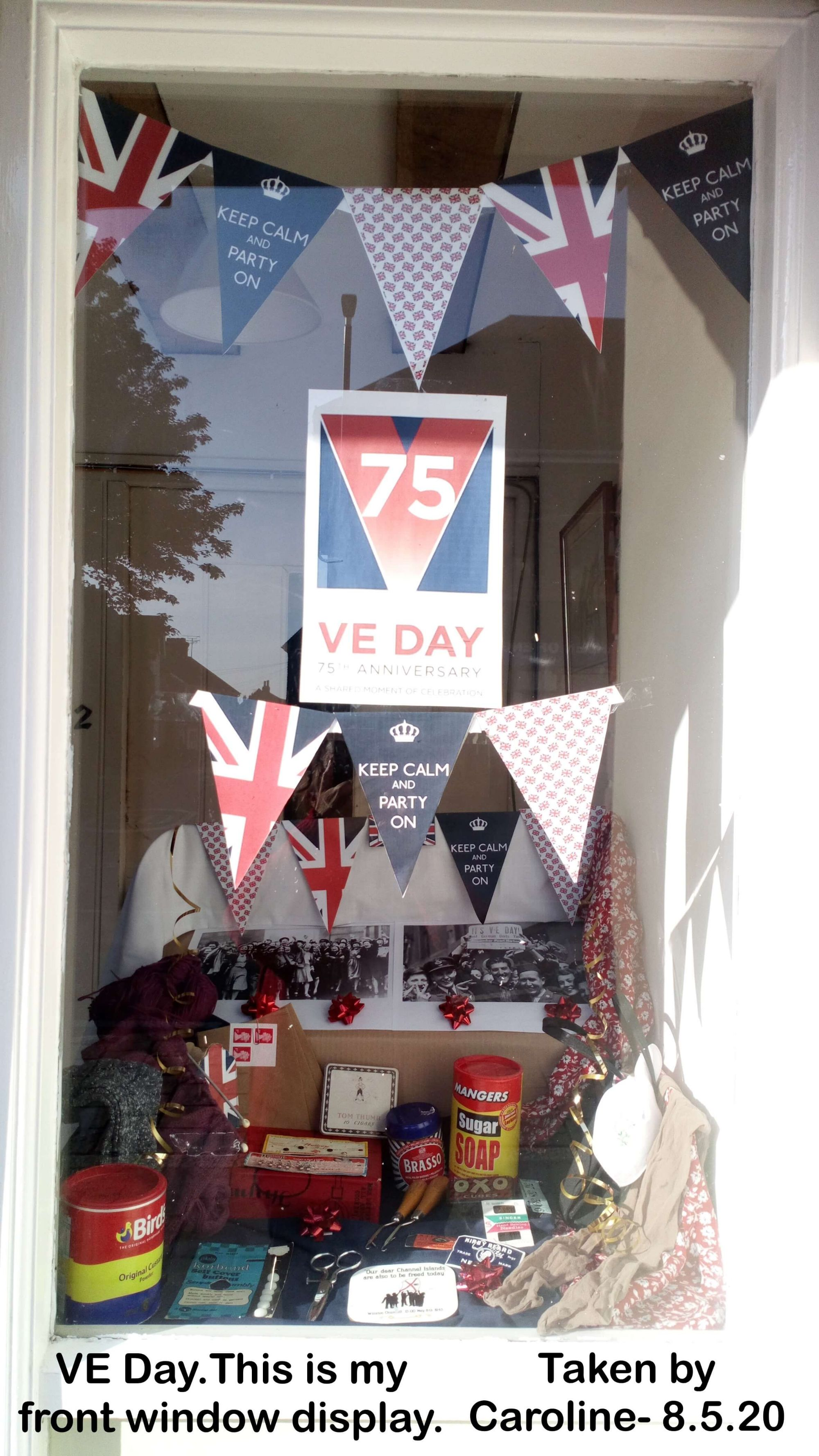 VE Day.This is my front window display.