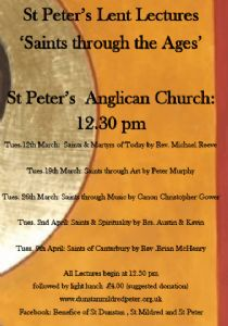 St Peter's Lent Lectures