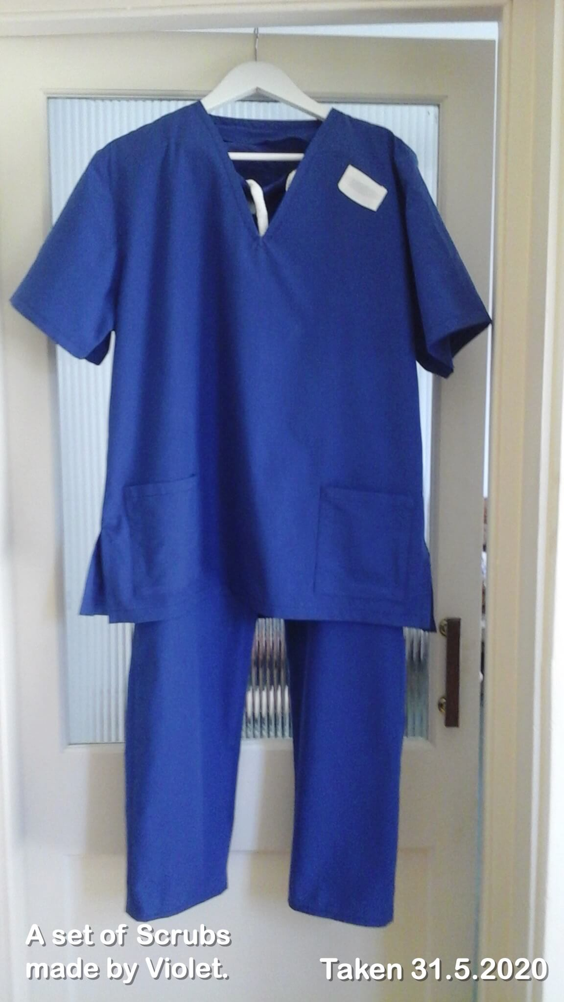 A set of Scrubs made by Violet.