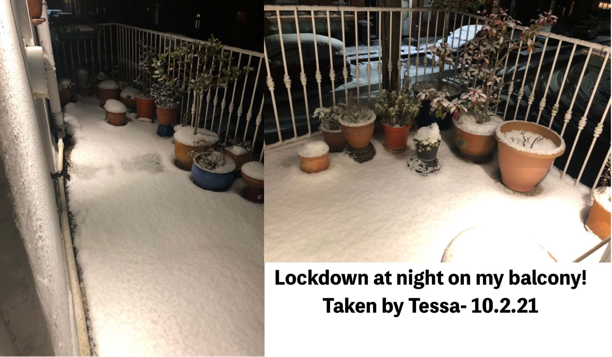 Lockdown at night on my balcony! Taken by Tessa