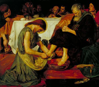 Ford Maddox Brown - Jesus washing Peters fee