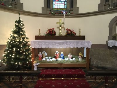 Crib and Christmas Tree