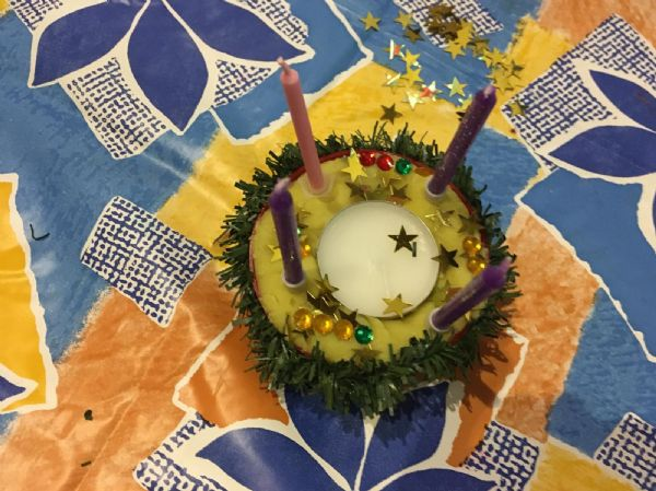 Advent wreath cake
