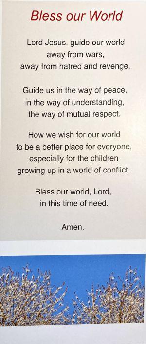 Easter Prayer - Bless our world