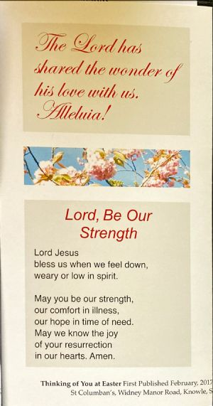 Easter Prayer - Lord be our strength