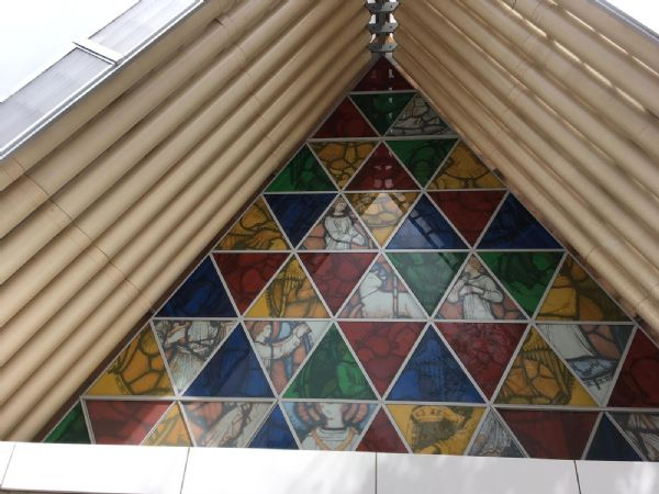 Cardboard Cathedral ceiling
