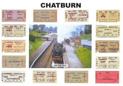 Railway Tickets from Chatburn 1962