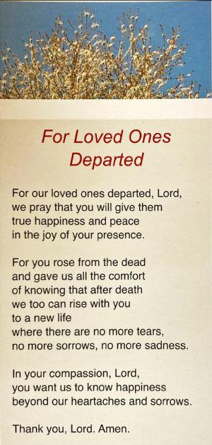 Easter Prayer - Loved ones departed